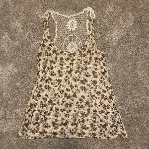 Charlotte Russe Floral Knit Tank